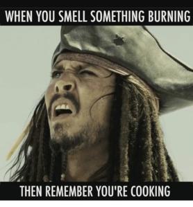something is burning